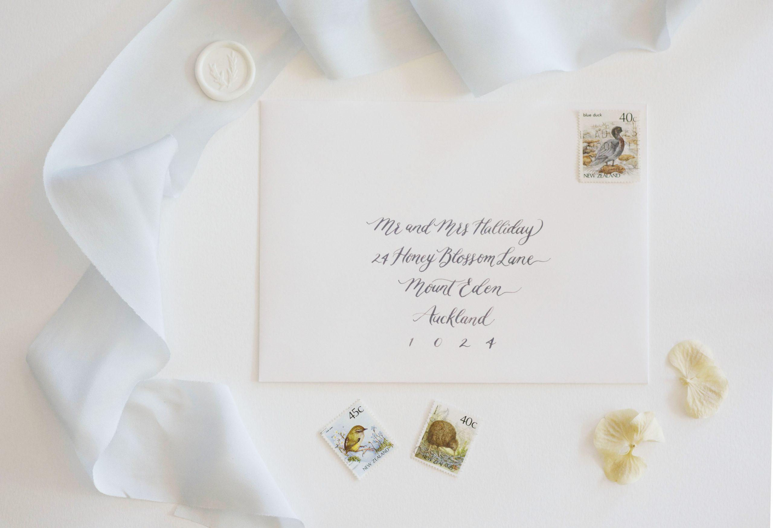 Modern Romance Calligraphy Envelope Address