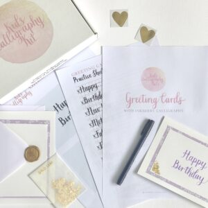 Brush Pen Calligraphy Greeting Cards