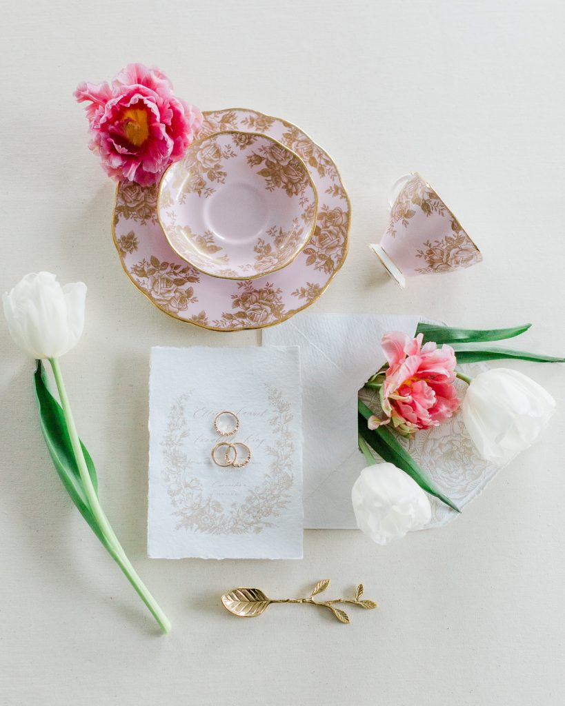 Calligraphy Floral Wedding Invitation